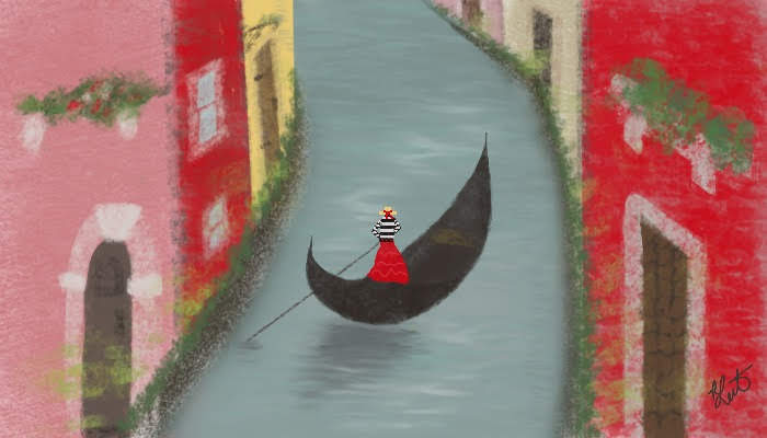 venetian red gondola